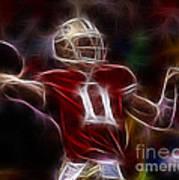Alex Smith - 49ers Quarterback Poster by Paul Ward