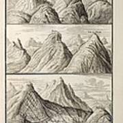 Alpine Geology Flood Evidence Scheuchzer. Poster by Paul D Stewart