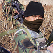 An Afghan Commando On Patrol Poster by Stocktrek Images