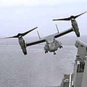 An Mv-22b Osprey Takes Poster by Stocktrek Images