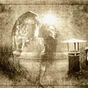 Angel Spirit Sepia Poster by Yvon van der Wijk