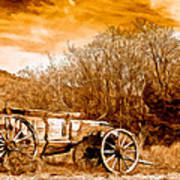 Antique Wagon Poster by Bob and Nadine Johnston