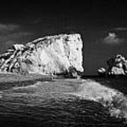 Aphrodites Rock Petra Tou Romiou Republic Of Cyprus Europe Poster by Joe Fox