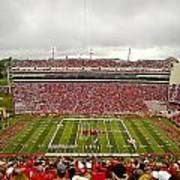 Arkansas Marching Band Forms U-of-a At Razorback Stadium Poster by Replay Photos