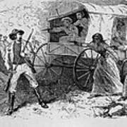 Armed Fugitive Slave Family Defending Poster by Everett