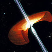 Artwork Showing A Mechanism For Gamma-ray Bursts Poster by Nasa