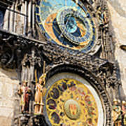 Astronomical Clock In Prague Poster by Artur Bogacki
