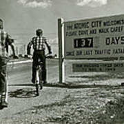 Atomic City Tennessee In The Fifties Poster by Tom Hollyman and Photo Researchers