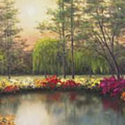 Autumn Sunset Poster by Diane Romanello