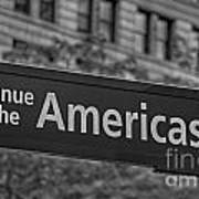 Avenue Of The Americas Poster by Susan Candelario