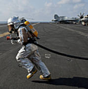 Aviation Boatswain's Mate Carries Poster by Stocktrek Images
