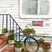 Back Step Poster by Nancy Patterson
