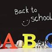 Back To School Concept With Abc Letters Poster by Sandra Cunningham