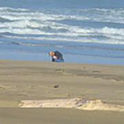 Bandon Oregon Beach Comber Prints Ocean Coastal Poster by Baslee Troutman