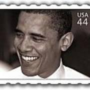 Barack Obama Portrait. Photographer Ellis Christopher Poster by Ellis Christopher