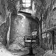 Barber - Chair - Eastern State Penitentiary - Black And White Poster by Paul Ward