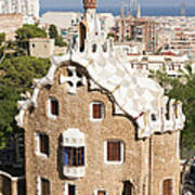 Barcelona Parc Guell Poster by Matthias Hauser