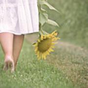 Barefoot Summertime Poster by Marta Nardini
