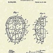 Baseball Mask 1912 Patent Art Poster by Prior Art Design