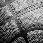 Basketball -black And White Poster by Ben Haslam