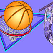 Basketball Poster by Erasmo Hernandez