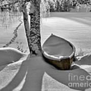 Bath And Snowy Rowboat Poster by Ari Salmela