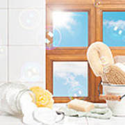 Bathroom Interior Still Life Poster by Amanda Elwell