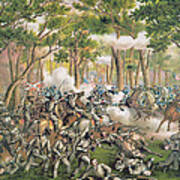 Battle Of The Wilderness May 1864 Poster by American School