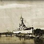 Battle Ship Poster by Malania Hammer