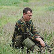 Belgian Paratroopers Red Berets Poster by Luc De Jaeger