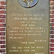 Benjamin Franklin Marker Poster by Snapshot  Studio