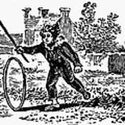 Bewick: Boy With Hoop Poster by Granger