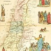 Biblical Map Palestine Poster by Pg Reproductions