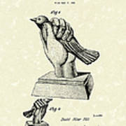 Bird In The Hand Coin Bank 1943 Patent Art Poster by Prior Art Design