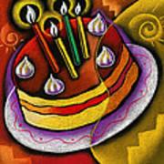 Birthday  Cake  Poster by Leon Zernitsky