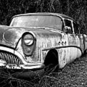 Black And White Buick Poster by Steve McKinzie