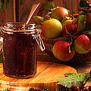 Blackberry And Apple Jam Poster by Amanda And Christopher Elwell