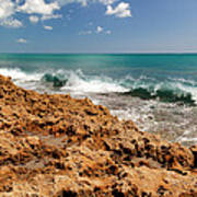 Blowing Rocks Jupiter Island Florida Poster by Michelle Wiarda