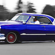 Blue Ford Customline Poster by Phil 'motography' Clark