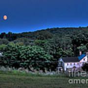 Blue Moon Poster by Guy Harnett