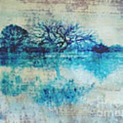 Blue On Blue Poster by Ann Powell