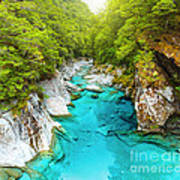 Blue Pools Poster by MotHaiBaPhoto Prints