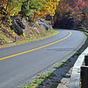 Blue Ridge Parkway Autumn Road Poster by Bruce Gourley