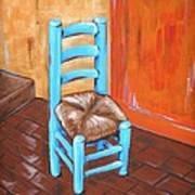 Blue Vincent Poster by JW DeBrock