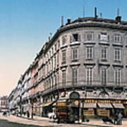 Bordeaux - France - Rue Chapeau Rouge From The Palace Richelieu Poster by International  Images