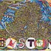 Boston Art Map Poster by Jonathan 'DiNo' DiNapoli