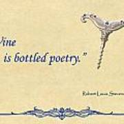 Bottled Poetry Poster by Elaine Plesser