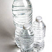 Bottled Water Poster by Photo Researchers