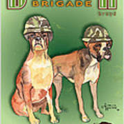 Boxer Brigade Chew Toys Poster by Amelia Hunter