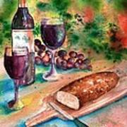 Bread And Wine Poster by Sharon Mick